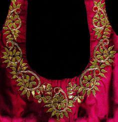 gota-work-embroidery-blouse-design.jpg (619×640)
