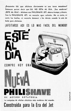 https://flic.kr/p/w5W3YD | Publicidad de Philishave de Philips, Chile año 1961 | La máquina de afeitar eléctrica más moderna del mundo