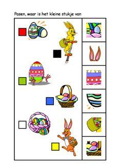 * Waar is het kleine stukje van? 1-2 Games, Sorting, Worksheets, Kids, Special Education, Cousins, Activities, Manualidades, Spring