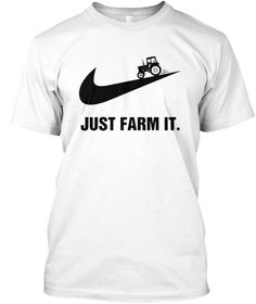 Discover Just Farm It Farming Farmer T-Shirt from Farmer Just Farm It T-shirt, a custom product made just for you by Teespring. - Just Farm It T Shirts With Sayings, Cute Shirts, Shirts For Girls, Farm Clothes, Diy Clothes, Farmer Outfit, Cow Outfits, Cute Shirt Designs, Gifts For Farmers