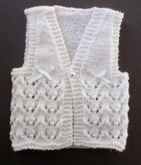 Knitting Baby Vest Lace Knit Baby Vest