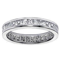 2.00 CT TW Princess Cut Diamond Eternity Wedding Band in 14K White Gold
