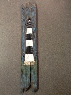 Bodies Island Lighthouse painting on driftwood