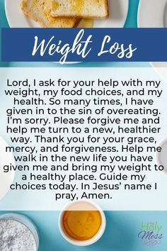A Prayer for Weight Loss - pray this prayer to lose weight with God's help. Weight Loss Meals, Fast Weight Loss Diet, Diet Plans To Lose Weight Fast, Weight Loss Drinks, Easy Weight Loss, Healthy Weight Loss, Losing Weight, Loose Weight, Weight Loss Problems