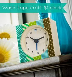 washi tape clock