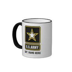 Personalized US Army Logo Mug