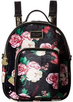 b9560ec1315 Betsey Johnson Mini Convertible Backpack Mini Backpack Purse, Floral  Backpack, Leather Backpack, Betsy