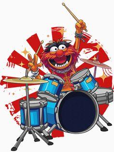Vieux Telephone Portable, Drummer Tattoo, Animal Muppet, Pearl Drums, Chalk Wall, The Muppet Show, Drummer Boy, Music Wallpaper, Figurative Art