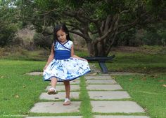 DIY - Toddler Dress - Japanese Inspired - Pagoda Garden