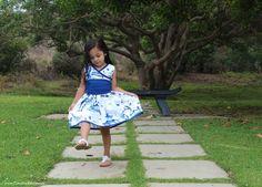 DIY - Toddler Dress - Japanese Inspired - Pagoda Garden