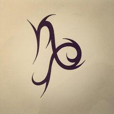 Resultado de imagen para tribal capricorn tattoos for women Hot Tattoos, Body Art Tattoos, Tribal Tattoos, Girl Tattoos, Sleeve Tattoos, Tatoos, Capricorn Tattoo, Zodiac Tattoos, Zodiac Capricorn