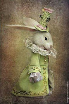 White Rabbit Alice In Wonderland Needle Felted White Rabbit Needle Felted Bunny, Rabbit from Alice, Felt Rabbit, Art Doll White Rabbit Alice In Wonderland, Lapin Art, Felt Bunny, Rabbit Art, Bunny Rabbit, Bunny Art, Vintage Easter, Whimsical Art, Felt Animals