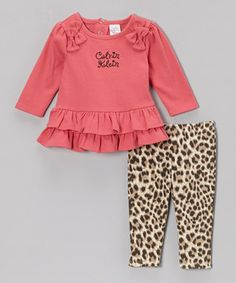 Keep Baby cozied up and classy in this chic set. The top has ruffles galore, while an elastic waistband on the matching pants helps them fit with ease.