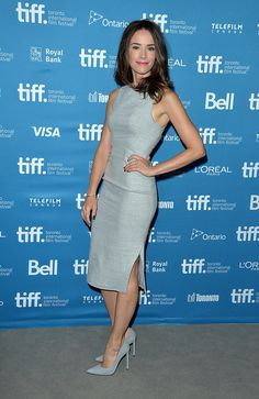 If Color Matching Isn't Enough, Match Texture Too: Abigail Spencer didn't stop at color when it came to coordinating her suede Stuart Weitzman heels to her textural dress. She also made sure they had the same feel, too.