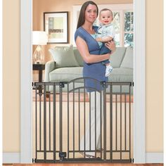Summer Infant Multi-Use Extra Tall Walk-Thru Baby Gate - Bronze - Need an extra tall child safety gate? The Summer Infant Multi-Use Extra Tall Walk-Thru Baby Gate - Bronze is a stylish and functional option. The attractive. Best Baby Gates, Kids Gate, Child Safety Gates, Home Safes, Baby Safety, Baby Furniture, Summer Baby, Late Summer, Contemporary Decor