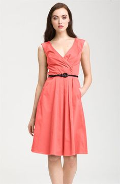 Jessica Simpson Belted V-Neck Fit & Flare Dress available at Nordstrom