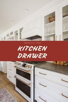 DIY Kitchen Drawer Ideas #diykitchendrawer #kitcendecor Dream Kitchens, Cool Kitchens, Kitchen Drawers, Kitchen Cabinets, Drawer Inspiration, Drawer Ideas, Drawer Design, Diy Kitchen, Diy Home Decor