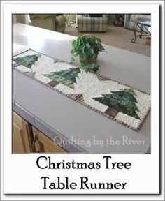 Free Christmas Tree Table Runner Tutorial at Freemotion by the River