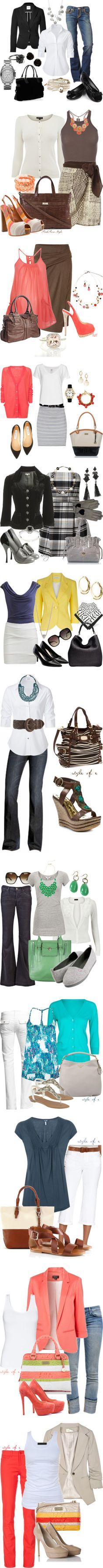 Some great mix & match pieces you can use for a regular or casual day at the office.