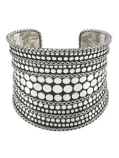 John Hardy Dot Nuansa Silver Cuff Sterling silver textured dot cuff bracelet inches in diameter inches wide Material: Sterling silver Brand: John Hardy Origin: Imported I Love Jewelry, Silver Jewelry, Jewelry Design, Jewelry Making, Statement Jewelry, Diy Jewelry, Indian Jewelry, Jewelry Box, Jewelry Accessories