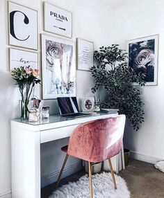 17 trendy home office inspiration workspaces Home Office Space, Home Office Design, Home Office Decor, Office Furniture, Diy Home Decor, Room Decor, Furniture Ideas, Barbie Furniture, Furniture Design