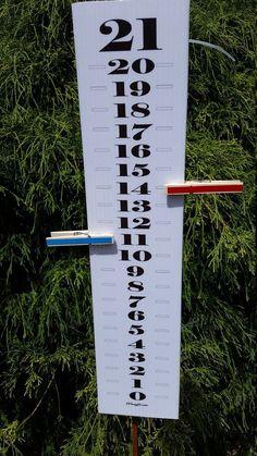 Scoreboard Score Keeper -Black & White Classic - UV & Waterproof - Cornhole | Sporting Goods, Outdoor Sports, Backyard Games | eBay!