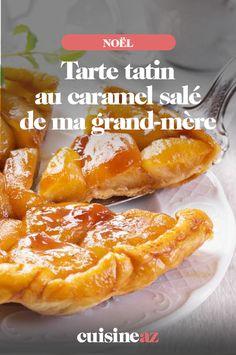 Facile à réaliser pour les fêtes de fin d'année, cette tarte tatin au caramel salé de ma grand-mère. #recette#cuisine#tarte #tartetatin#patisserie #dessert #pomme #noel#fete#findannee #fetesdefindannee Caramel, 20 Min, French Toast, Breakfast, Desserts, Cakes, Apples, Sunday, Food