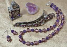 Amethyst & Murano Glass Jewellery Set £49.40