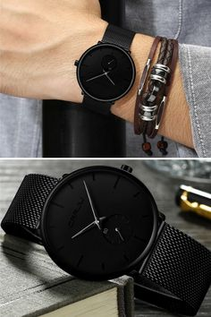 Buy Finiera Minimalist Black Steel Watch // Watches for Men // Minimalist Design // Luxury Mens Watches // Affordable Price // Free Shipping // Gift For Him
