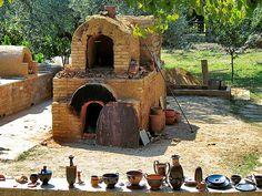 wood-fired pottery kilns | photo