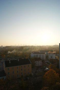 Widok z balkonu na Pradze