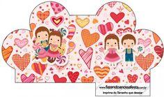 Caixa Coração João e Maria Candy Colors: