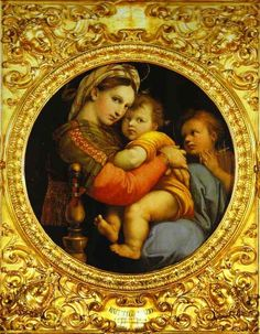 Raphael - I love this painting. I picked up a print of it in a round gold frame at Joe's Antiques in Naugatuck many years ago and I refinished the frame.