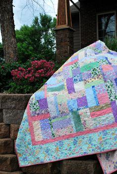 Handmade Queen Bed Quilt English Cottage Garden 86 by MonkeyMuffin
