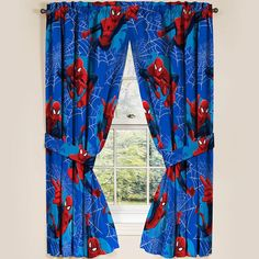 "Marvel Ultimate Spiderman Spider-Man Curtain Panels Drapes, Set of 2, 42"" x 63"" #Marvel"