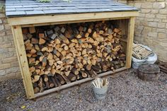 Build a log store for our future wood stove