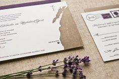 Vintage Travel Letterpress Wedding Invitation Suite by Laura Macchia Letterpress Wedding Invitations, Wedding Invitation Suite, Invitation Design, Wedding Stationery, Invites, Vintage Stamps, Custom Thank You Cards, Paper Goods, Got Married