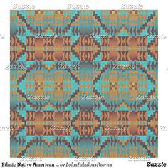 Ethnic Native American Indian Tribal Pattern Art Fabric Tribal Pattern Art, Bohemian Fabric, Native American Indians, Custom Fabric, Crafts To Make, Printing On Fabric, Sewing Projects, Quilts, Quilt