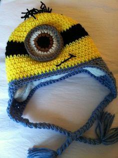 "Lakeview Cottage Kids: ""Minion Earflap Hat"" FREE PATTERN!!!!!"
