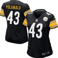 Give your fellow football enthusiasts an outstanding show of team pride and all-out NFL fanaticism in the Nike Pittsburgh Steelers Troy Polamalu Game Jersey. #Ultimate Tailgate  #Fabrics
