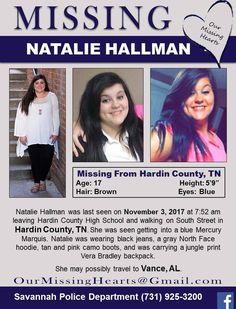 Find Missing Natalie Hallman!