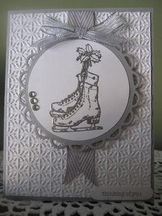 Stampin' Up Handmade Greeting Card Winter Themed by ConroysCorner