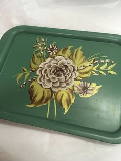 Collector Vtg Hand Painted Floral Tin | eBay