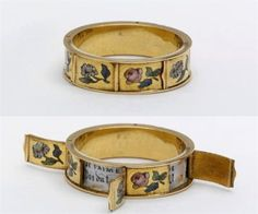 Ring with hidden love messages made in France 1830-60. Via Darla Teagarden on FB