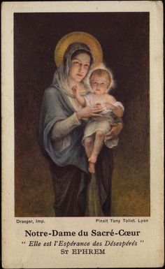 Our lady of the Sacred Heart of JESUS  She is the hope of the desperate -St.Ephrem