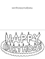 your little one can color and give his own card to friends or family for an upcoming birthday free printable birthday cards can be one of your tools to
