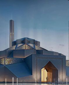 Iconic mosque in Marasi, Egypt designed by Distance Studio C - Art & Architecture media photos videos Architecture Design, Mosque Architecture, Sacred Architecture, Religious Architecture, Facade Design, Futuristic Architecture, Historical Architecture, Amazing Architecture, Architecture Sketches