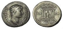 Hadrian. 117-138 AD. AR Cistophoric Tetradrachm, Temple of Artemis, Rare.