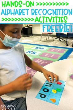 Engaging alphabet activities for kindergarten! Your students will have fun with these activities while they practice letters and sounds. Plus, some assessment ideas, too! Click the image to snag a FREE FILE!