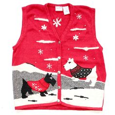 Scottie Dog/Westie Tacky Ugly Christmas Holiday Sweater/Vest by TheUglySweaterShop, via Flickr